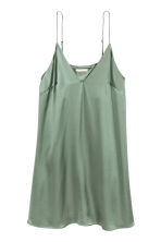 Slip dress - Green -  | H&M 2