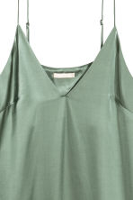 Slip dress - Green -  | H&M 3