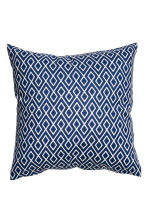 Patterned cushion cover - White/Dark blue - Home All | H&M CN 2