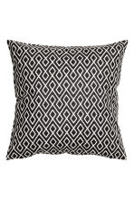 Patterned cushion cover - White/Anthracite - Home All | H&M CN 1