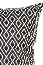 Patterned cushion cover - White/Anthracite - Home All | H&M CN 2