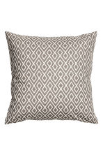 Patterned cushion cover - White/Mole - Home All | H&M CN 1