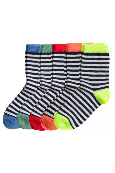 5-pack socks - Light grey/Striped -  | H&M 1