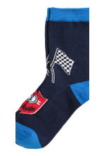 5-pack socks - Cornflower blue/Car - Kids | H&M CN 4