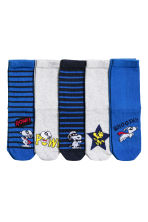 5-pack socks - Cornflower blue/Snoopy - Kids | H&M 1
