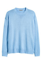 H&M+ Fine-knit jumper - Light blue - Ladies | H&M CN 2