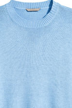 H&M+ Fine-knit jumper - Light blue - Ladies | H&M CN 3