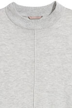 H&M+ Knitted tunic - Light grey marl - Ladies | H&M 3
