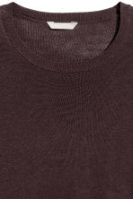 H&M+ Fine-knit jumper - Dark plum - Ladies | H&M CN 3