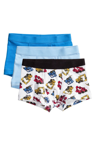 3-pack boxer shorts - White/Excavator - Kids | H&M CN