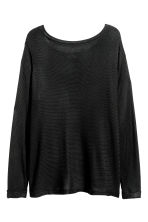 H&M+ Boat-neck jumper - Black - Ladies | H&M 2