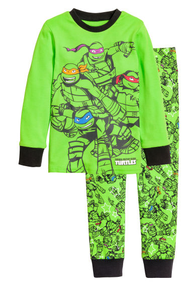Pyjamas - Green/Turtles - Kids | H&M 1