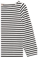 H&M+ Boat-necked jersey top - White/Black striped - Ladies | H&M 3