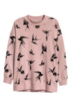 H&M+ Sweatshirt - Pink/Birds - Ladies | H&M CN 2