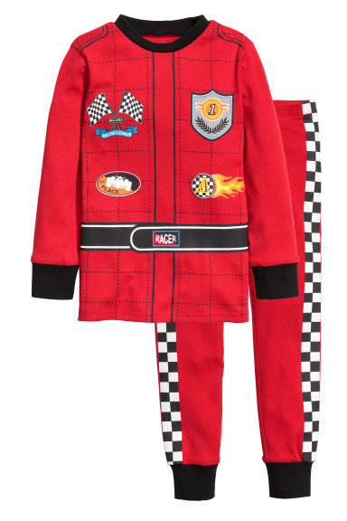 平紋睡衣套裝 - Red/Racing driver - Kids | H&M
