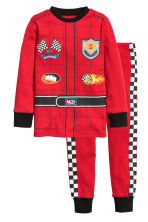 Jersey pyjamas - Red/Racing driver - Kids | H&M CN 1