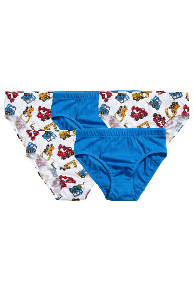 5-pack boys' briefs - White/Excavator -  | H&M 1