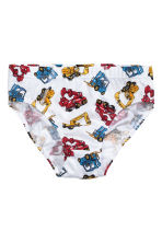 5-pack boys' briefs - White/Excavator -  | H&M 2