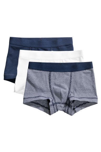 3件入四角褲 - Dark blue - Kids | H&M 1