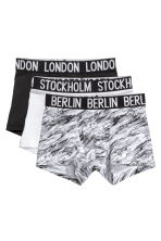 3-pack boxer shorts - Black/White - Kids | H&M 1