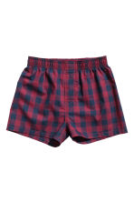 2-pack boxer shorts - Burgundy/Checked - Kids | H&M CA 2