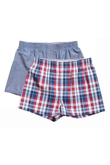 2-pack boxer shorts - Denim blue - Kids | H&M GB