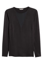 H&M+ Long-sleeved top - Black - Ladies | H&M 2