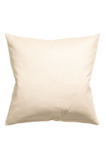 Cotton canvas cushion cover - Light beige - Home All | H&M CN 2