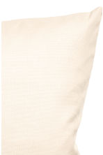 Cotton canvas cushion cover - Light beige - Home All | H&M CN 3