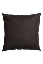 Cotton canvas cushion cover - 黑色 - Home All | H&M CN 1