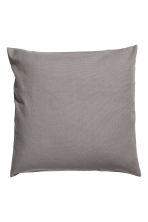 Cotton canvas cushion cover - Grey - Home All | H&M CN 1
