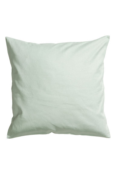 Cotton canvas cushion cover - Mint green - Home All | H&M CN 1
