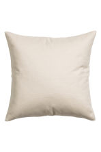 Cotton canvas cushion cover - Light beige - Home All | H&M CN 1