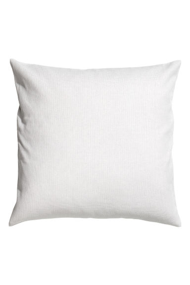 Cotton canvas cushion cover - Light grey - Home All | H&M CA 1