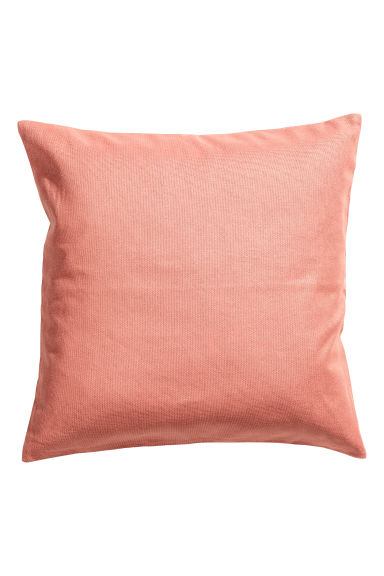 Cotton canvas cushion cover - Coral - Home All | H&M CN 1