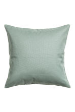 Cotton canvas cushion cover - Dusky green - Home All | H&M CN 1
