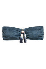 Bandeau bikini top - Dark denim blue - Ladies | H&M 2