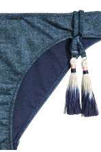 Bikini bottoms with tassels - Dark denim blue - Ladies | H&M CA 3