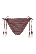 Crocheted bikini bottoms - Chocolate brown - Ladies | H&M 2
