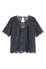 H&M+ Lace blouse - Dark grey - Ladies | H&M CN 2