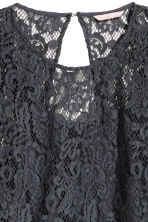 H&M+ Lace blouse - Dark grey - Ladies | H&M CN 3