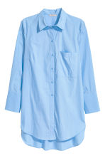 H&M+ Cotton poplin shirt - Light blue - Ladies | H&M 2