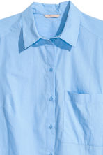 H&M+ Cotton poplin shirt - Light blue - Ladies | H&M CN 3