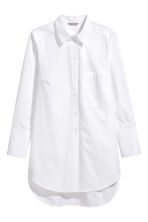 H&M+ Cotton poplin shirt - White - Ladies | H&M CA 2