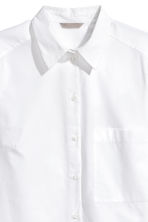 H&M+ Cotton poplin shirt - White - Ladies | H&M CA 3