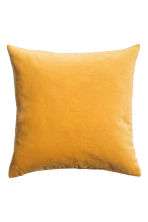 Velvet cushion cover - Mustard yellow -  | H&M 2
