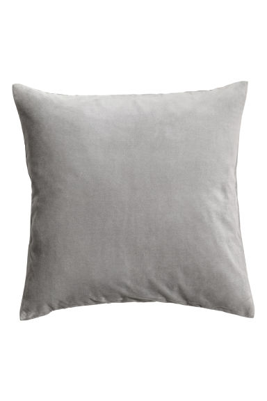 Velvet cushion cover - Grey -  | H&M GB 1