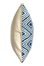 Patterned cushion cover - Natural white/Dark blue - Home All | H&M CN 3