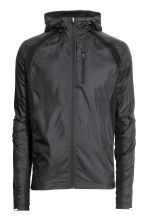 Running jacket with a hood - Black - Men | H&M 2