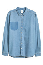Denim shirt - Denim blue - Ladies | H&M CN 2